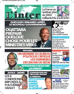 Couverture du Journal L'INTER N° 6850 du 04/05/2021