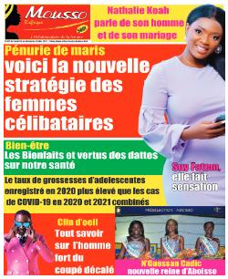 Couverture du Journal MOUSSO D'AFRIQUE N° 821 du 04/05/2021