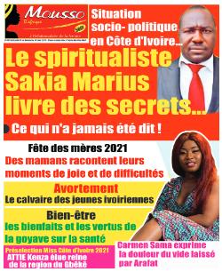 Couverture du Journal MOUSSO D'AFRIQUE N° 822 du 31/05/2021