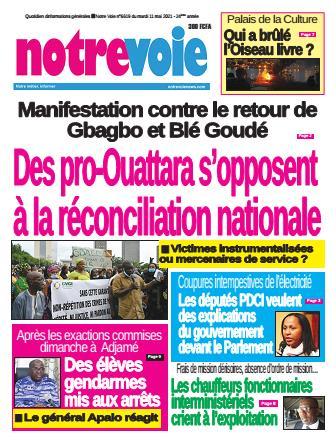 Couverture du Journal NOTRE VOIE N° 6620 du 11/05/2021