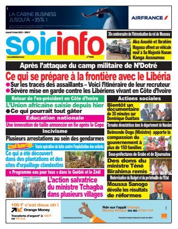 Couverture du Journal SOIR INFO N° 7966 du 11/05/2021