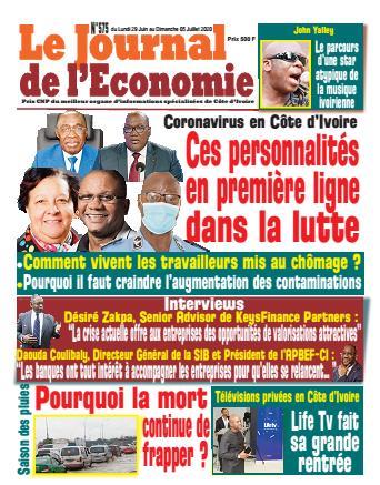 Couverture du Journal LE JOURNAL DE L'ÉCONOMIE N° 575 du 29/06/2020