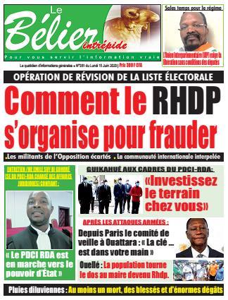Couverture du Journal LE BÉLIER INTRÉPIDE N° 351 du 15/06/2020