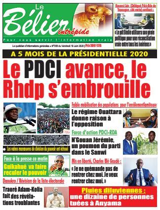Couverture du Journal LE BÉLIER INTRÉPIDE N° 355 du 19/06/2020