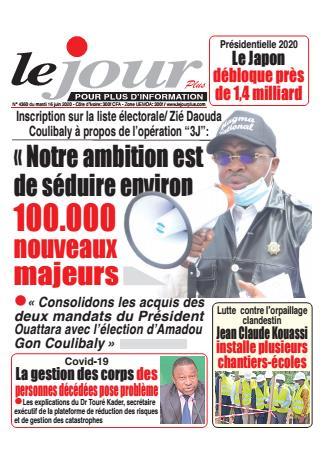 Couverture du Journal LE JOUR PLUS N° 4360 du 16/06/2020