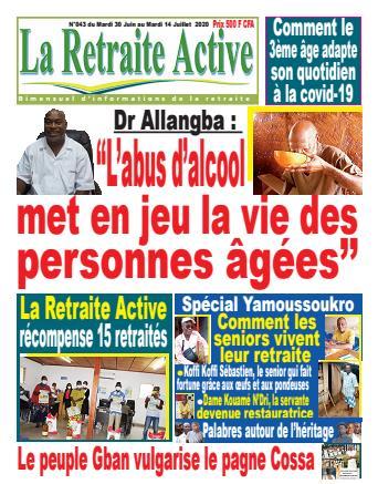 Couverture du Journal LA RETRAITE ACTIVE N° 43 du 30/06/2020