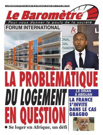Couverture du Journal LE BAROMETRE N° 19 du 10/06/2021