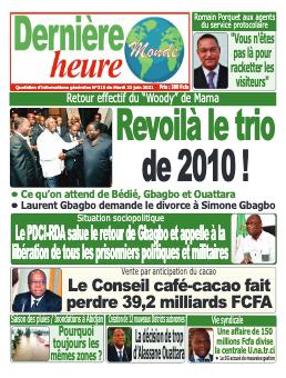 Couverture du Journal DERNIERE HEURE N° 316 du 22/06/2021