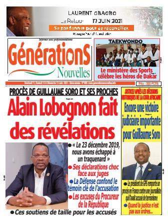 Couverture du Journal Générations nouvelles N° 681 du 11/06/2021