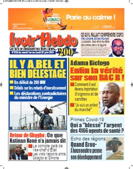 Couverture du Journal IVOIR'HEBDO N° 38 du 01/06/2021