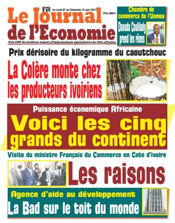 Couverture du Journal LE JOURNAL DE L'ÉCONOMIE N° 624 du 07/06/2021