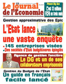 Couverture du Journal LE JOURNAL DE L'ÉCONOMIE N° 626 du 21/06/2021