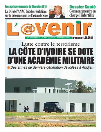 Couverture du Journal L'AVENIR N° 58 du 11/06/2021