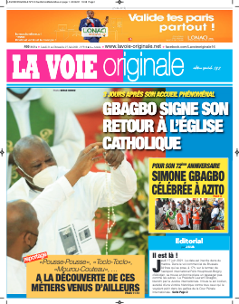 Couverture du Journal LA VOIE ORIGINALE N° 510 du 21/06/2021