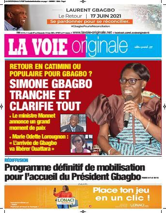 Couverture du Journal LA VOIE ORIGINALE N° 507 du 07/06/2021