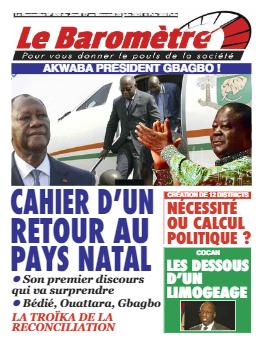 Couverture du Journal LE BAROMETRE N° 20 du 17/06/2021