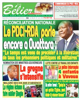 Couverture du Journal LE BÉLIER INTRÉPIDE N° 569 du 22/06/2021