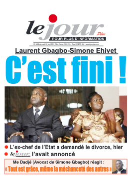 Couverture du Journal LE JOUR PLUS N° 4627 du 22/06/2021