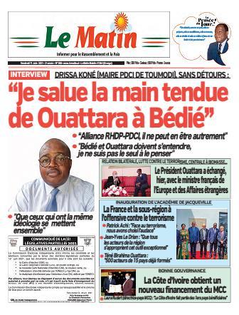 Couverture du Journal LE MATIN N° 560 du 11/06/2021