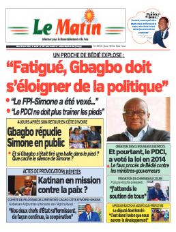 Couverture du Journal LE MATIN N° 567 du 22/06/2021