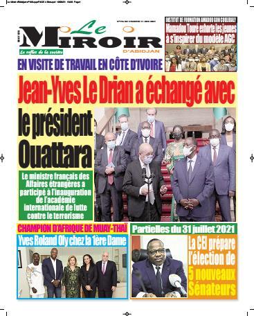 Couverture du Journal LE MIROIR D'ABIDJAN N° 203 du 11/06/2021