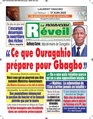Couverture du Journal LE NOUVEAU RÉVEIL N° 5781 du 11/06/2021