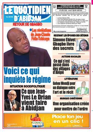 Couverture du Journal LE QUOTIDIEN D'ABIDJAN N° 4009 du 07/06/2021