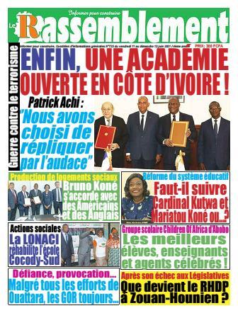 Couverture du Journal LE RASSEMBLEMENT N° 727 du 11/06/2021