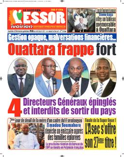 Couverture du Journal L'ESSOR IVOIRIEN N° 628 du 28/06/2021