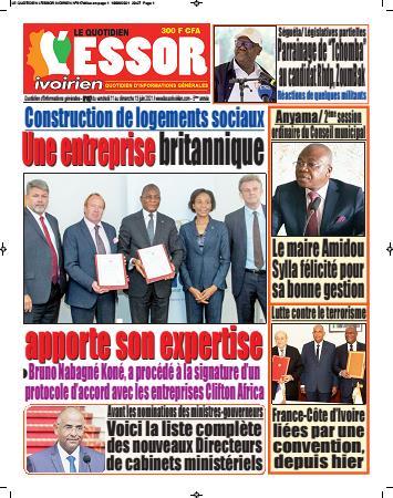Couverture du Journal L'ESSOR IVOIRIEN N° 618 du 11/06/2021