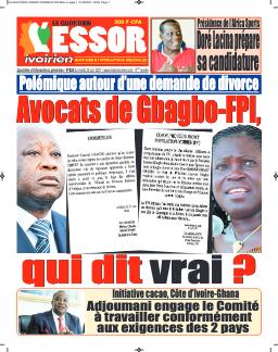 Couverture du Journal L'ESSOR IVOIRIEN N° 625 du 22/06/2021