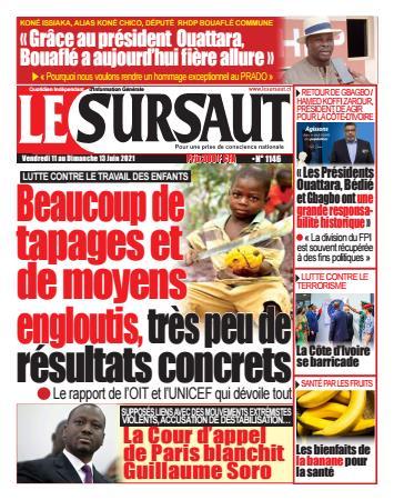 Couverture du Journal LE SURSAUT N° 1146 du 11/06/2021