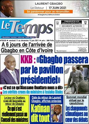 Couverture du Journal LE TEMPS N° 5236 du 11/06/2021