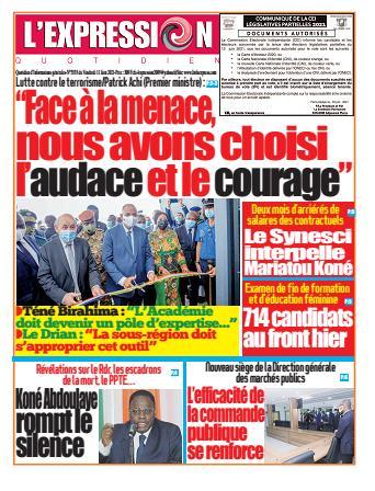 Couverture du Journal L'EXPRESSION N° 3333 du 11/06/2021