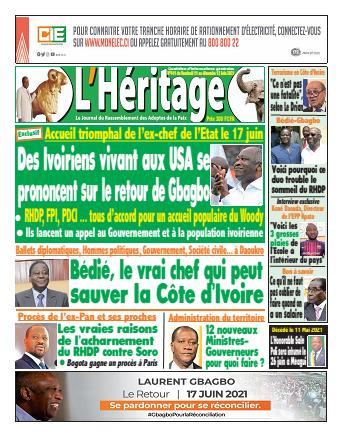 Couverture du Journal L'HÉRITAGE N° 442 du 11/06/2021