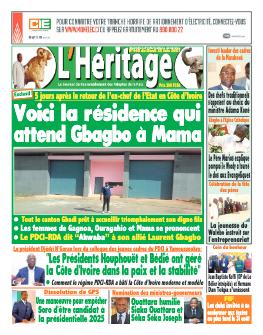 Couverture du Journal L'HÉRITAGE N° 449 du 22/06/2021