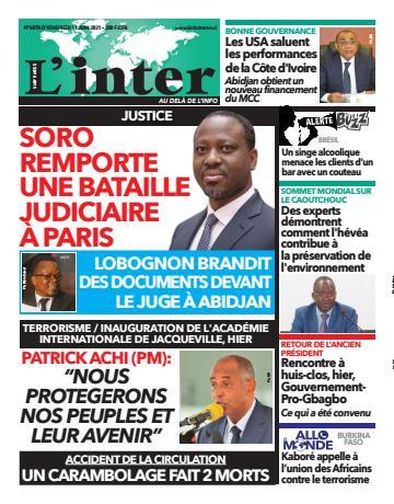 Couverture du Journal L'INTER N° 6878 du 11/06/2021