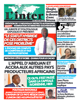 Couverture du Journal L'INTER N° 6887 du 22/06/2021