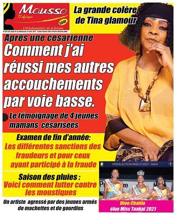 Couverture du Journal MOUSSO D'AFRIQUE N° 823 du 07/06/2021