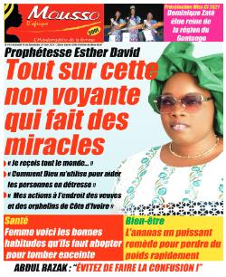 Couverture du Journal MOUSSO D'AFRIQUE N° 823 du 14/06/2021