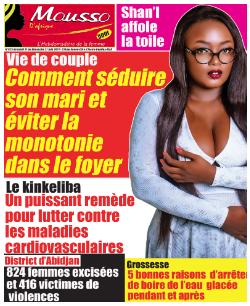 Couverture du Journal MOUSSO D'AFRIQUE N° 825 du 21/06/2021