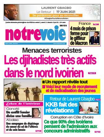 Couverture du Journal NOTRE VOIE N° 6639 du 11/06/2021
