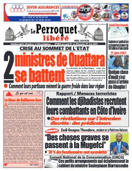 Couverture du Journal LE PERROQUET LIBERE N° 2 du 21/06/2021