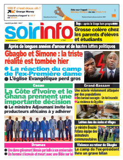 Couverture du Journal SOIR INFO N° 7997 du 22/06/2021