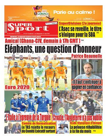 Couverture du Journal SUPERSPORT N° 3478 du 11/06/2021