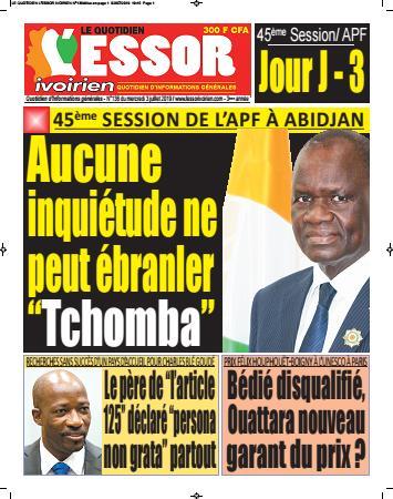 Couverture du Journal L'ESSOR IVOIRIEN N° 136 du 03/07/2019