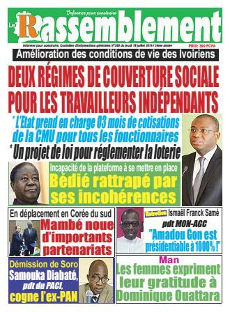 Couverture du Journal LE RASSEMBLEMENT N° 260 du 18/07/2019