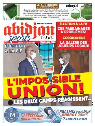 Couverture du Journal Abidjan Sports N° 6 du 14/07/2020