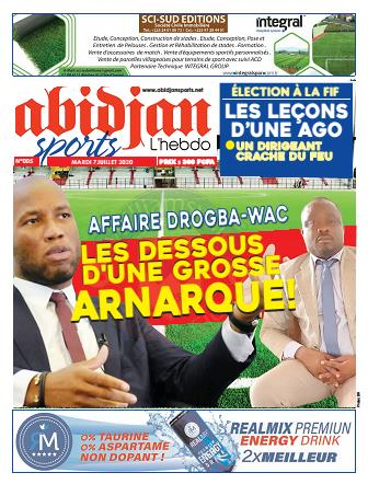 Couverture du Journal Abidjan Sports N° 5 du 07/07/2020
