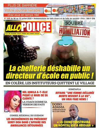 Couverture du Journal ALLO POLICE N° 546 du 06/07/2020
